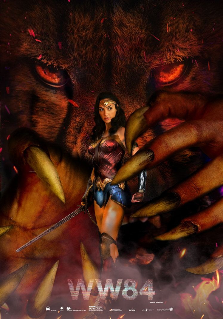 Wonder Woman 1984 Movie Poster By Saintaldebaran Wonder Woman Comic 1984 Movie Movie Posters