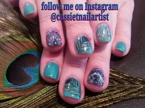 Peacock nail art gel mani by cassiethompsonnailartist of peacock nail art gel mani by cassiethompsonnailartist of vancouver wa prinsesfo Image collections
