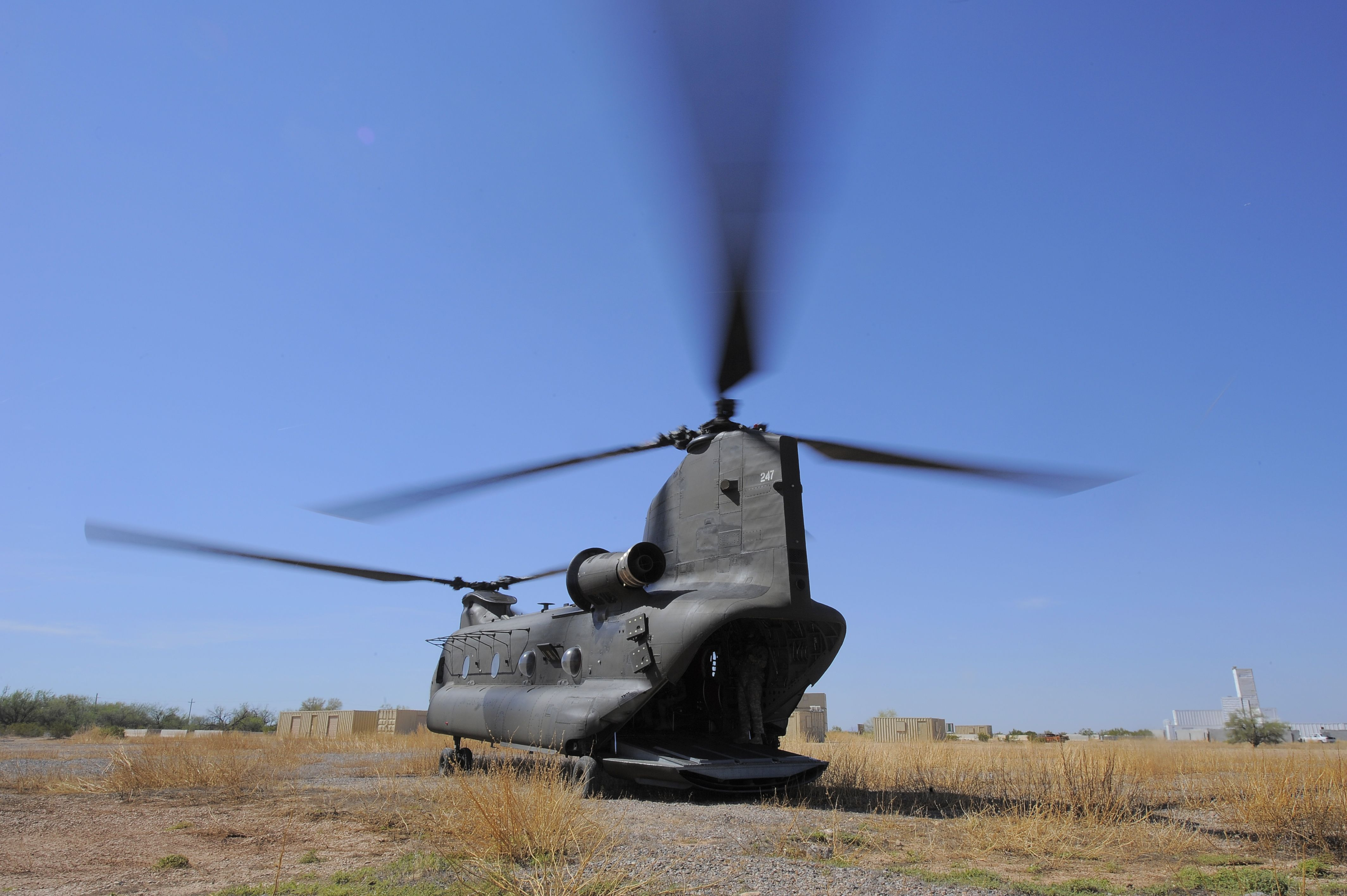 A U.S. Army CH47D Chinook from the Montana Army National