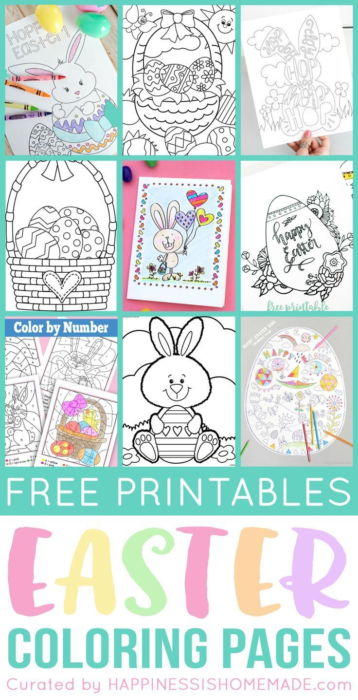 Free Printable Easter Coloring Pages are fun for kids of all ages ...