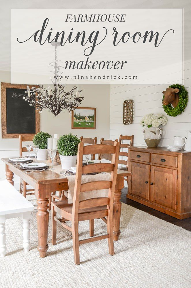 Farmhouse Dining Room Makeover  Room Blog And Farmhouse Style Impressive Farm Style Dining Room Table Design Ideas