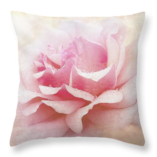 fully pink rose throw pillow for sale