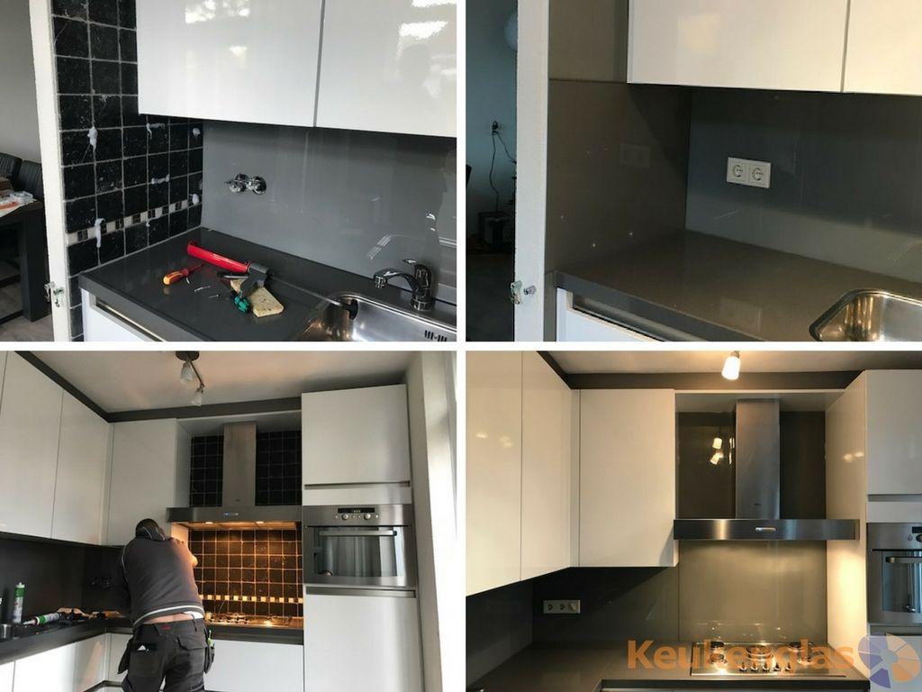 Keukenrenovatie met Keukenglas #keukenglas #glas #keuken #interieur ...