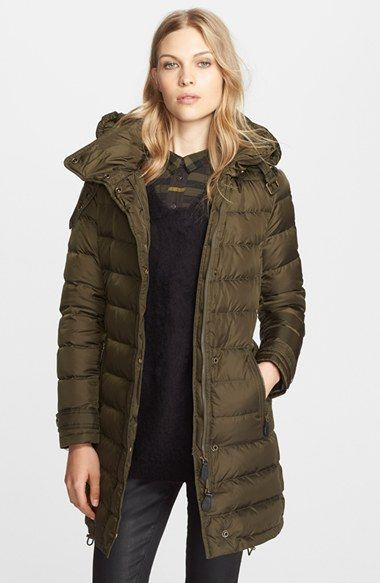 Burberry Brit Winterleigh Hooded Down Coat Available At