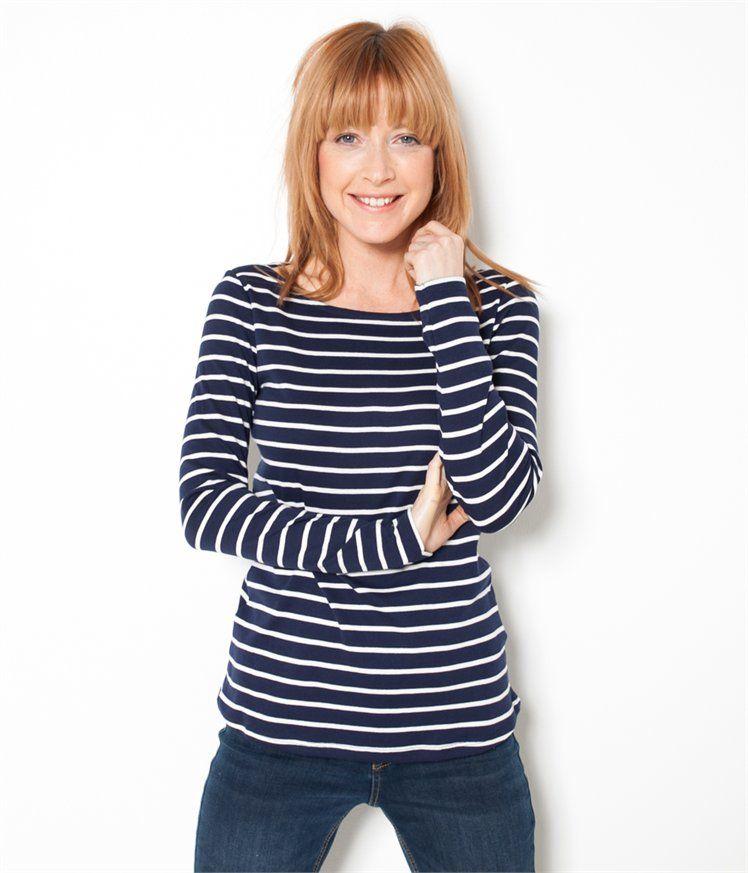 2c097d2fa6d74 Vente T-shirt marinière femme Fumee chine/craie TL - Tee shirt Camaieu. Ce t -shirt femme à rayures est l intemporel qui revient en force dans les  dressings ...