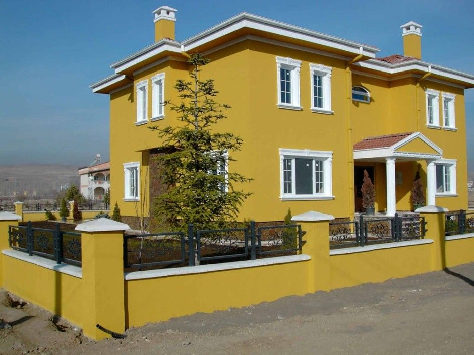 Marvellous exterior house paint color combinations for Best yellow exterior paint color