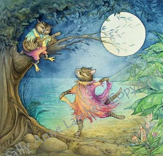 'They Danced By The Light Of The Moon' By Sally Anne