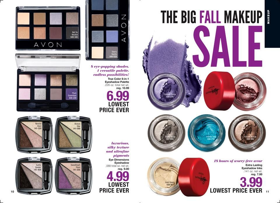 Online Brochure By Spring Makeup Makeup Sale Avon Eyeshadow