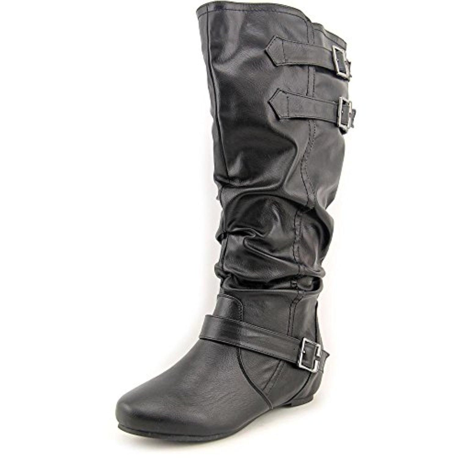 Journee Collection Tiffany Wide Calf Women US 8.5 Black Knee High Boot - Brought to you by Avarsha.com