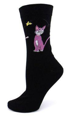 Kitty Butterfly Socks