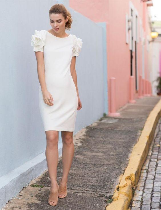 8 Little White Dresses For Pregnant Brides | Pregnant Brides ...