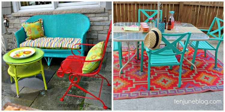 The Color Of Your Outdoor Furniture Colorful Patio Furniture
