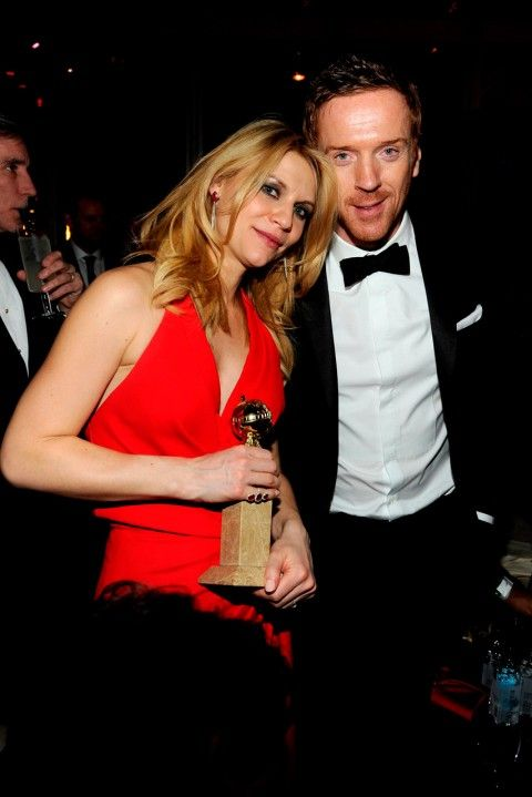 Claire Danes and Damian Lewis - Golden Globe After-Parties