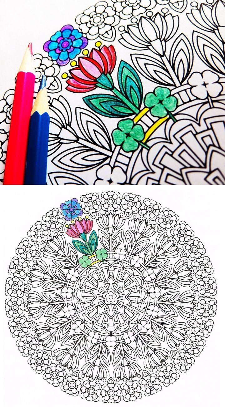 Spring Renewal – spring coloring page mandala | Flower mandala and ...