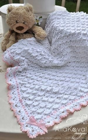 Gorgeous Crochet Border Open Shell With Picot By Jocelyn Baby