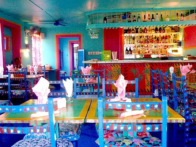 Colorful Interior Of Caribbean Restaurant Color Color