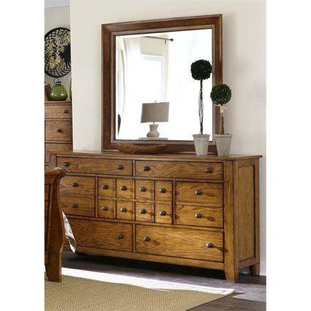 Liberty Furniture Grandpa's Cabin 7 Drawer Dresser in Aged ...
