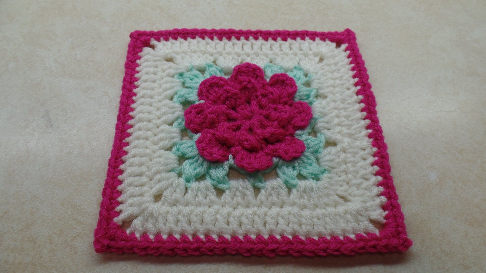 How To #Crochet Rose Flower Granny Square Revised in HD #TUTORIAL ...