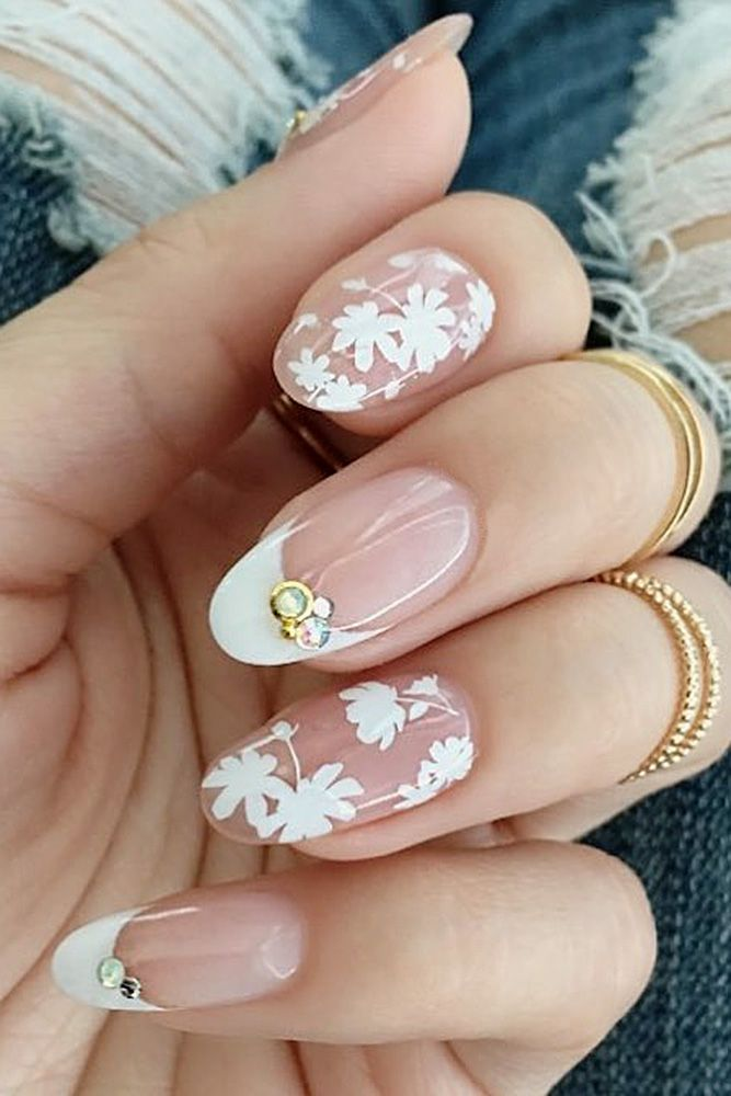 20 Perfect Wedding Nail Art Desgins | Wedding nails art, Bridal nail ...