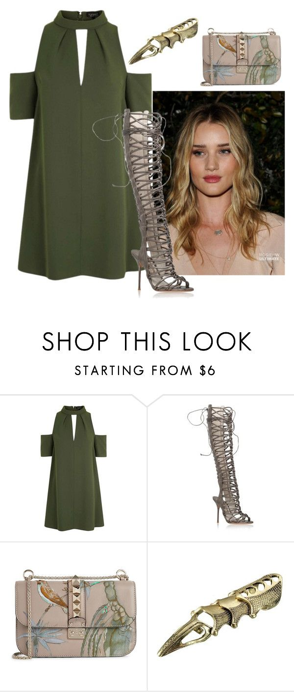"""Locked"" by charlotteh2001 ❤ liked on Polyvore featuring Topshop, Sophia Webster and Valentino"