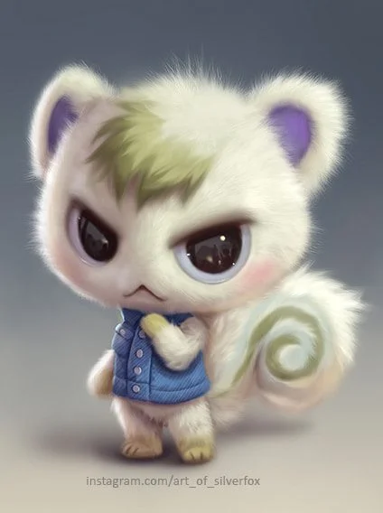Marshal design for year 2100 Animal Crossing [art by Silverfox]