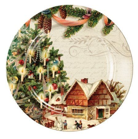 Vintage Christmas Ceramic Round Dinner Plate by Evergreen Enterprises, Inc. $14.99. Great as a gift or for yourself. Adding celebration to a holiday gathering or a whimsical touch to the everyday, these plates are sure to become favorite pieces.. Save 29% Off!