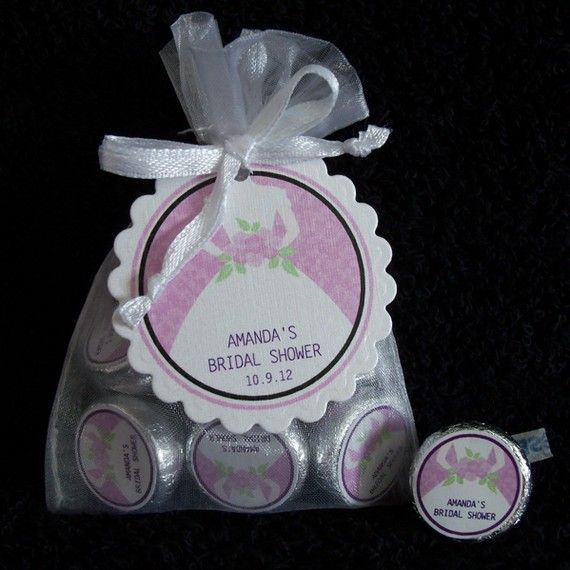 Personalized Hershey Kiss Bridal Shower Or Wedding Favor Kit Bride With Purple Background White