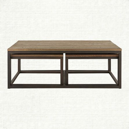Palmer Nesting Coffee Table Arhaus 1 399 On Sale For 999 53 5 W X 30 D X 19 H Round Wooden Coffee Table Living Room Furniture Furniture