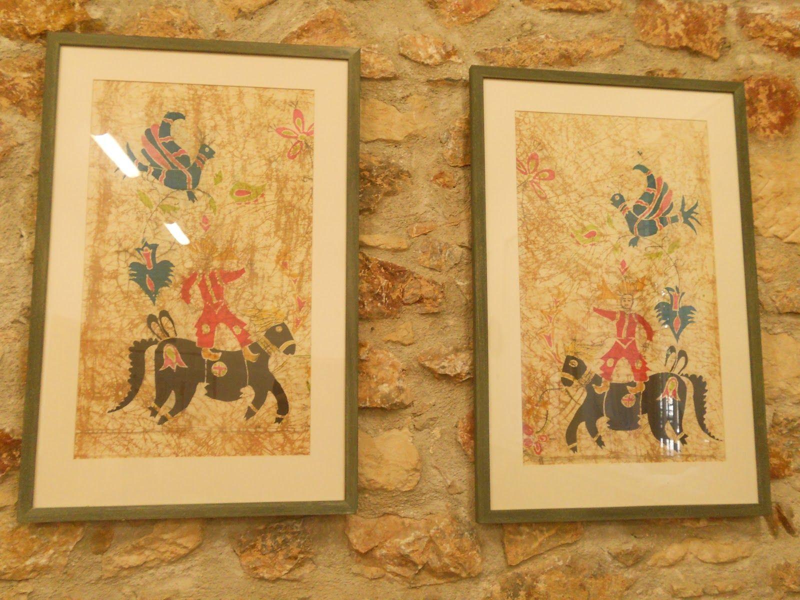 μπατίκ με λαϊκές παραδοσιακές παραστάσεις | Ζωγραφική στo Μετάξι ...