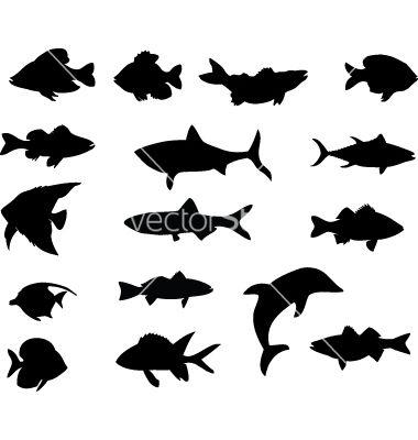 Graphic Fish Vector Fish Vector Animal Silhouette Disney Silhouettes