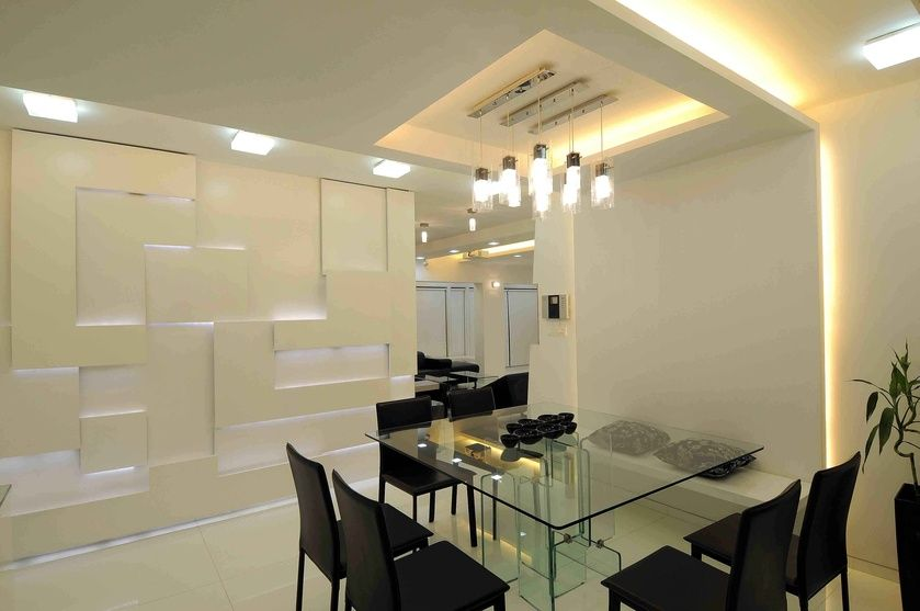 Squared Dining Table Design by Sonali Shah, Architect in ... on Dining Table Ceiling Design  id=70219