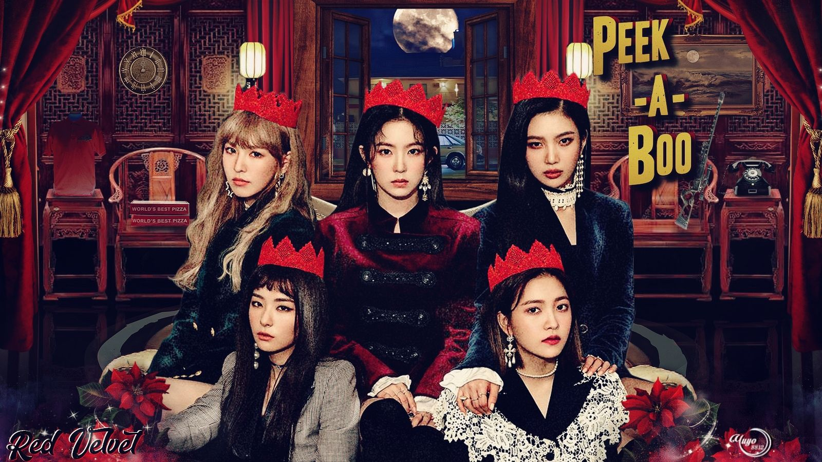 Red Velvet Girls Irene Joy Kpop Png Red Velvet Wallpaper Wendy Yeri Seulgi Lockscreen Reveluv Peekaboo Red Velvet Velvet Velvet Wallpaper