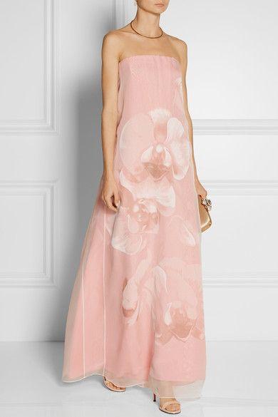 Fendi floral print silk organza gown | Playing Dress-Up ...