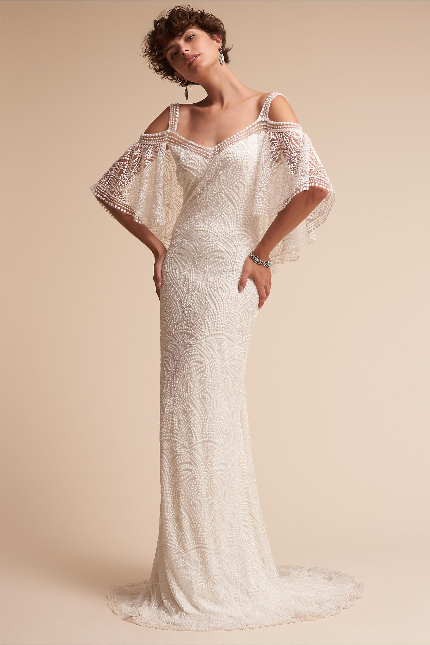 Bhldn Kenna Gown Ivory In Bride Bohemian Wedding Dresses Beautiful Dress