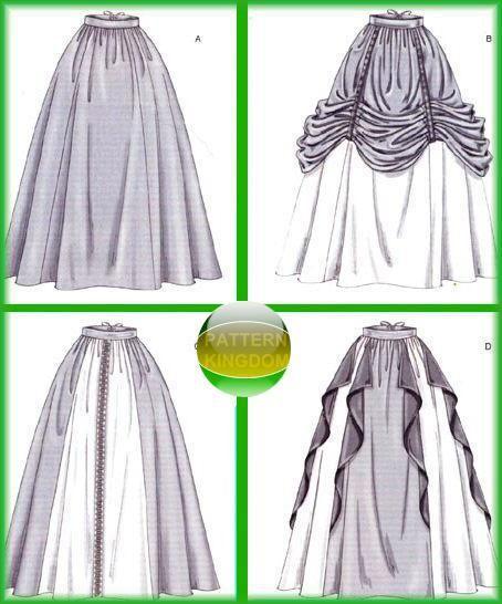 McCalls 4090 Medieval/Renaissance Skirt/Dress Patterns my bottom is ...