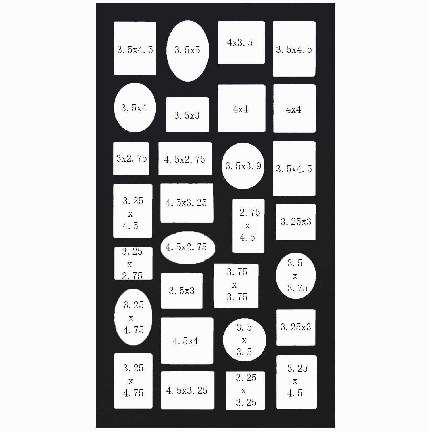 Adeco pf9105 decorative black wood wall hanging collage