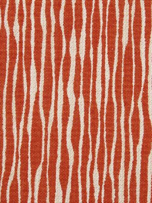 Orange Upholstery Fabric   Modern Stripe Fabric By The Yard   Dark Orange  Woven Pillow Covers   Kitchen Chair Pad Fabric   Abstract Fabric