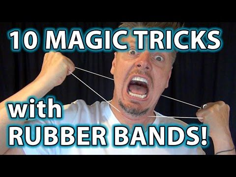 How To Do 10 Awesome Magic Tricks With Rubber Bands More Pranks Magic And Tutorials On Our Channel Subscribe Now Easy Magic Tricks Easy Magic Magic Tricks