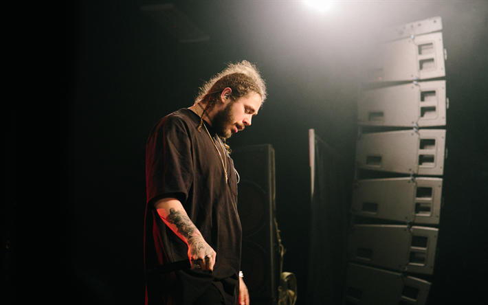 Download wallpapers Post Malone, 4k, american singer, guys, celebrity #postmalonewallpaper