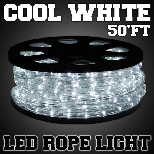 50 Ft Cool White 2 Wire Led Rope Light Home Outdoor Christmas Flexible Holiday Lighting 100v Http Www Amazon Com Dp B00 Led Rope Lights Led Rope Rope Light
