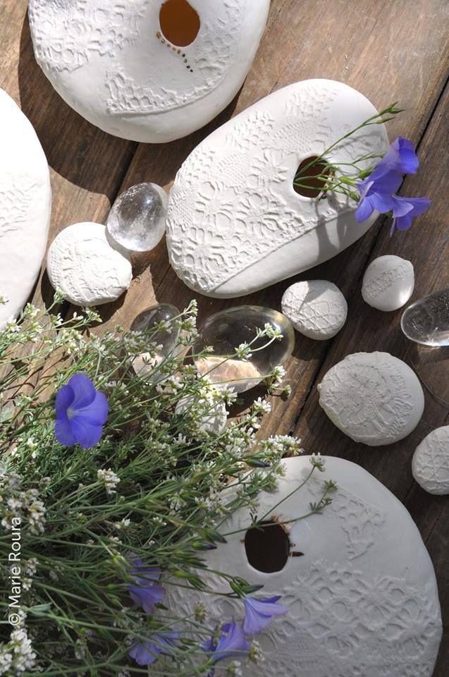 Myriam Ait Amar Ceramics Lampe en céramique avec intérieur