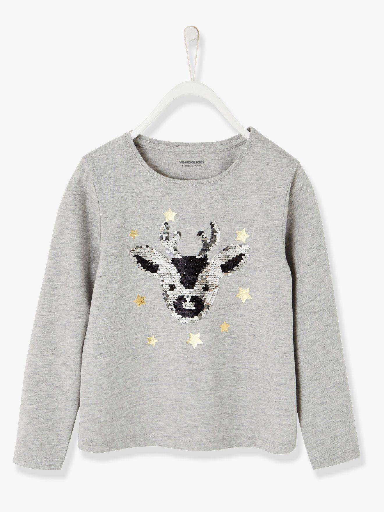 T Paillettes Shirt Réversibles Femme Sapin 0OXw8nPk