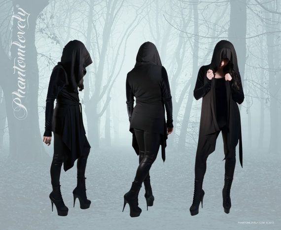 HEX Hooded Cardigan Wrap Jacket Hoodie Asymmetrical Hem Modal ...