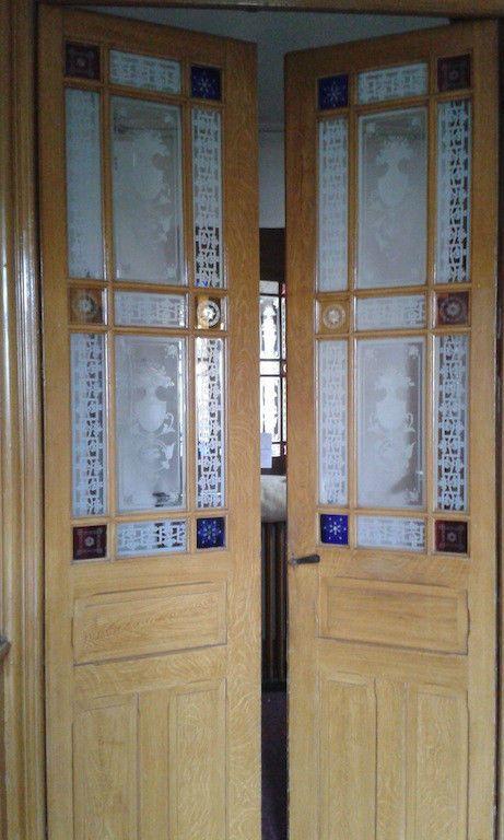 Porte Haussmannienne porte ancienne haussmannienne xix em decoration renovation chateau