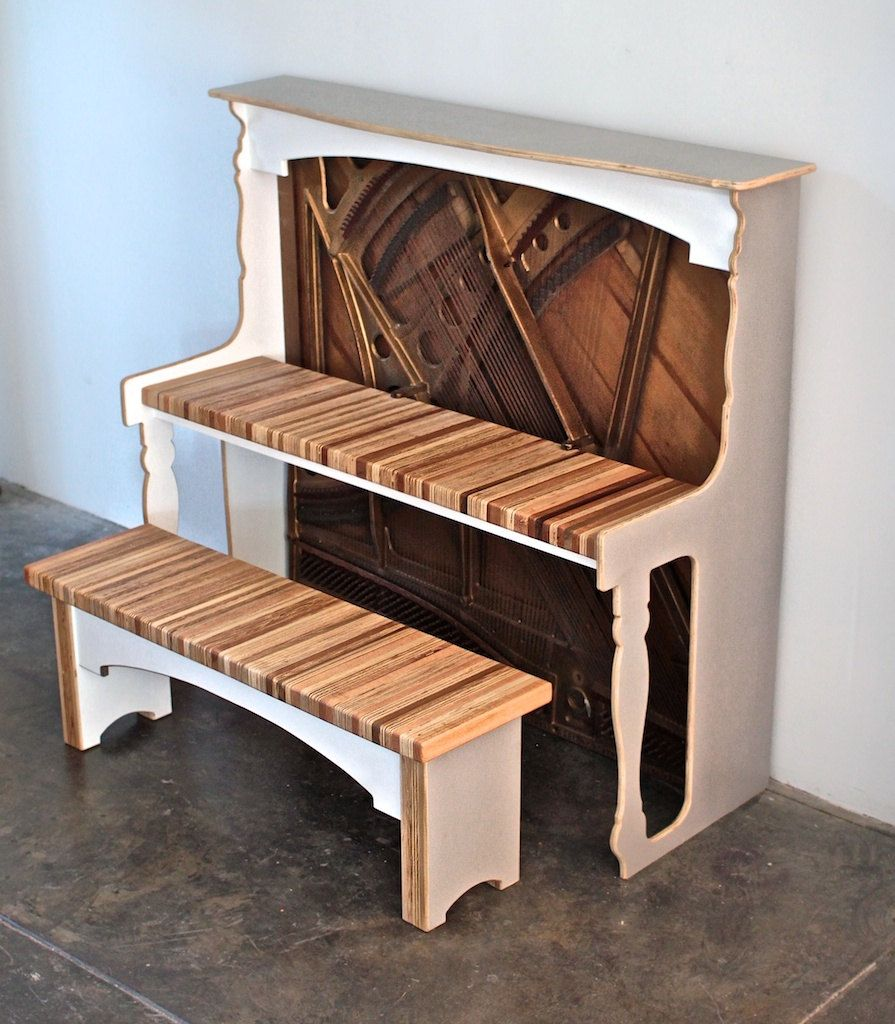 Desk I Love 80s : Vintage reclaimed antique piano desk for home office