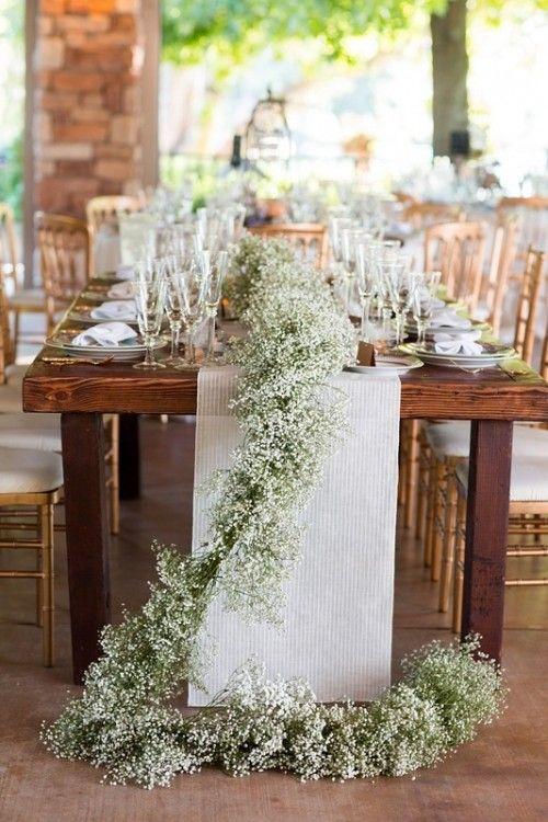 32 Luxurious Wedding Table Garlands Weddingomania Wedding Table Garland Gypsophila Wedding Table Rustic Wedding Table