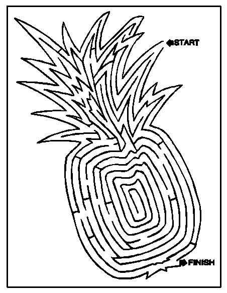 delicious pineapple maze