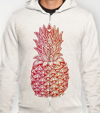 Pineapple Love Hoody by Alohalani - $38.00