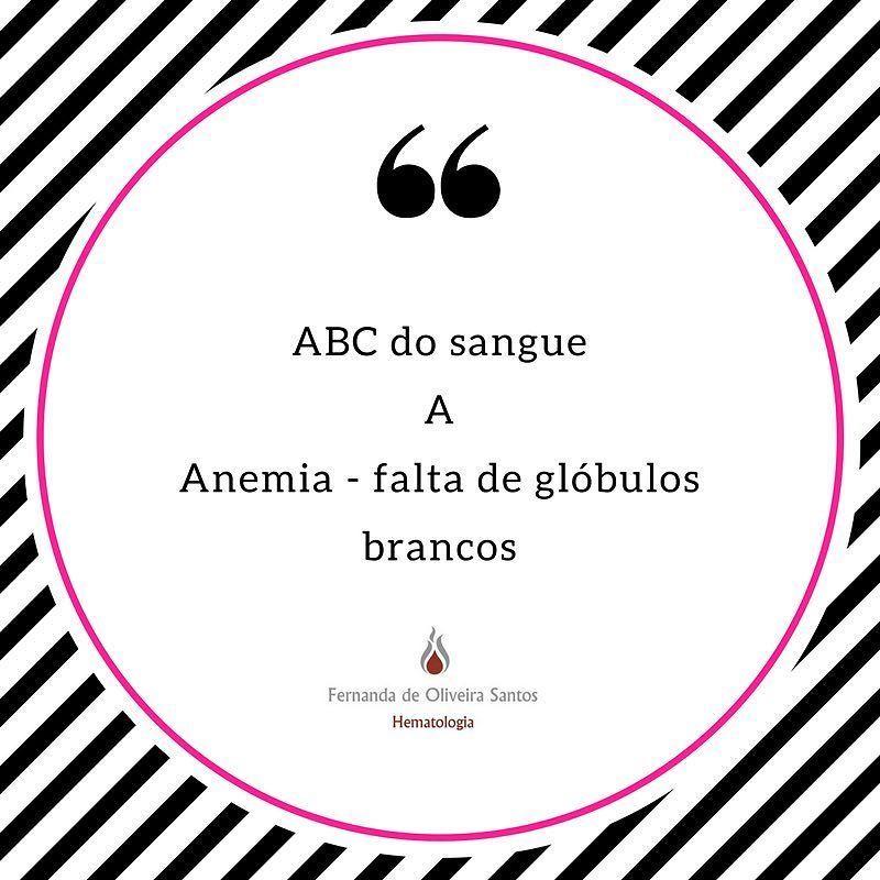 Série ABC do sangue! Cada dia uma letra e um assunto! #fernandahemato #sangue #hematologia #anemia