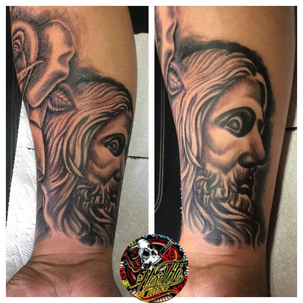 Jesus Face Tattoo X Alanchaveztattoos Hardlifeink Tattoo Shop Brooklyn Ny